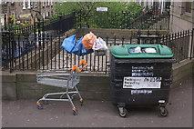 NT2774 : Bins full, London Road, Edinburgh by Mike Pennington