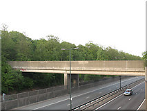TQ4475 : Footbridge over the A2 at Eltham by Stephen Craven