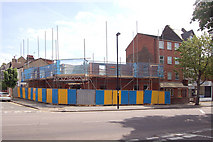 TQ2081 : Building construction in Horn Lane, Acton, W3 (1) by Andrew Hackney