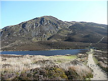 NN9462 : Loch a' Choire and the screes of Ben Vrackie by Russel Wills