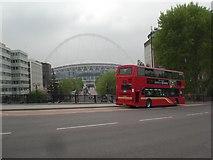 TQ1985 : Wembley Stadium from Engineers Way bridge by Robin Sones