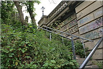 TM1543 : Steps up from the Gipping to Princes Street bridge by Oxymoron