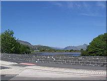 SH5738 : Afon Glaslyn and mountains beyond by John Firth