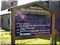 SD5376 : Church of St James, Burton, Sign by Alexander P Kapp