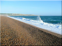 SY6774 : Chesil Beach and West Bay by Jonathan Billinger