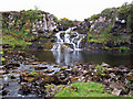 NG3352 : Waterfall in the Red Burn by Richard Dorrell