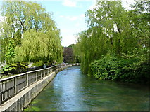 SU4828 : Looking North From Wharf Mill, Winchester by Peter Trimming