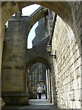 SU4829 : Buttresses, Winchester Cathedral by Peter Trimming