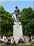 SU4829 : War Memorial, Winchester by Peter Trimming