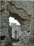 SU4829 : Wolvesey Castle - Cathedral View by Peter Trimming