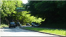 TQ2652 : A217, Reigate Hill by Peter Trimming