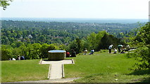 TQ2652 : View From Reigate Hill Viewpoint by Peter Trimming