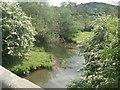 SJ2700 : River Camlad upstream of Hockleton Bridge by John M