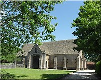 ST5038 : Fourteenth-century Abbey barn at the Somerset Rural Life Museum. by Pam Goodey