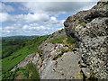 SJ4606 : The rocks of Lyth Hill by Dave Croker