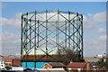 TQ5474 : Gas Storage Tank by Claire Stretch