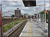 TQ3581 : Shadwell DLR Station - Eastern Approach Viaduct by Peter Whatley