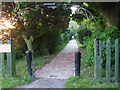 SE8317 : Pathway to Luddington church by Glyn Drury