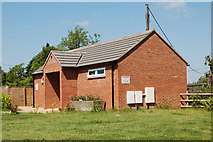 SP5163 : Showers and toilets, Bush Hill farm campsite, Flecknoe by Andy F