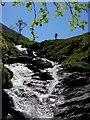 NN4037 : Cascades, upper reaches of Allt Fionn a' Ghlinne by Karl and Ali