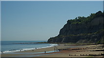 SZ5881 : Shanklin Chine - Beach by Peter Trimming