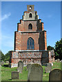 TM4993 : St Mary's church - the pagoda-style tower by Evelyn Simak