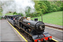 NY1700 : The River Esk pulls into Dalegarth Station by N Chadwick