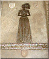 TM3996 : St Andrew's church - C15 brass to Margaret Castyll by Evelyn Simak