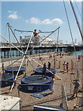 TQ3103 : Trampoline with assisted bounce, Brighton beach by David Hawgood