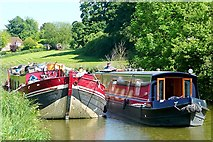 SU3767 : Boats west of Kintbury by Graham Horn