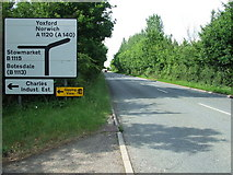 TM0659 : Road Sign by Keith Evans