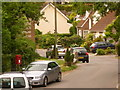 SY7197 : Piddlehinton: postbox № DT2 137, Rectory Road by Chris Downer