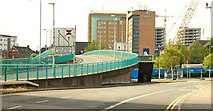 J3474 : The Station Street/Bridge End flyover, Belfast (4) by Albert Bridge