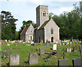TM4192 : St Mary's church and surrounding churchyard by Evelyn Simak