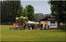 SU7682 : Henley Piazza cafe in Mill Meadows by Steve Daniels