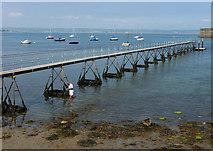 SY6874 : Pier next to Portland Castle by Chris Gunns