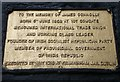 Photo of James Connolly gold plaque