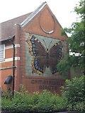 TQ3377 : Camberwell Beauty Mural, Wells Way SE5 by Robin Sones