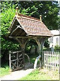 TG1902 : St Mary's church - lych gate by Evelyn Simak