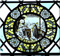 TG1902 : St Mary's church - Flemish glass roundel by Evelyn Simak