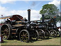 SP0361 : Three traction engines raising steam, Astwood Bank by Michael Trolove