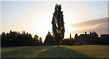 SO7845 : Poplar, Malvern St.James playing field by Bob Embleton