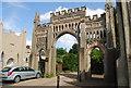 TQ6349 : The Entrance to Hadlow Castle, Hadlow by N Chadwick