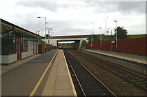 SD6409 : Horwich Parkway Station, view south towards Bolton and Manchester by David Long