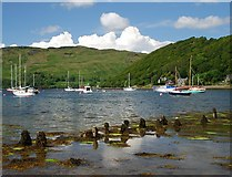 NM8312 : Yachts moored at Loch na Cille by Patrick Mackie