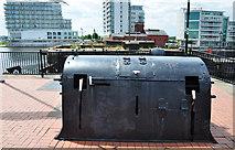 ST1974 : Dock gate operating equipment, Mount Stuart Graving Dock - Cardiff Bay by Mick Lobb