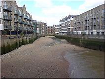 TQ3680 : Creek near Canary Wharf by Danny P Robinson