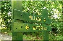 J4681 : Sign, Crawfordsburn Glen by Albert Bridge