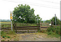 NU2312 : Disused level crossing near Lesbury by Andy F