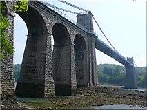 SH5571 : Menai Suspension Bridge by Nigel Mykura